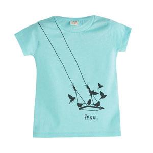 Pop Girls Özgür Kuş Kısa Kol Tişört Çini (3-12 yaş)
