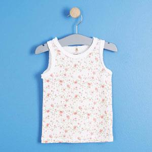 Pop Girls Güllü Fırfırlı Kolsuz Tişört Violet (0-2 yaş)