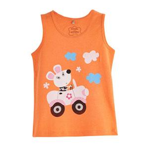Pop Girls Araba Kullanan Tavşan Kısa Kol Tişört Apricot (0-2 yaş)