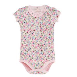 Kız Bebek Kısa Kol Badi Açık Pembe (0-2 yaş)