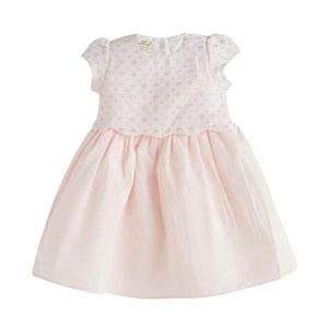 Kız Bebek Kısa Kol Elbise Açık Pembe (0-2 yaş)