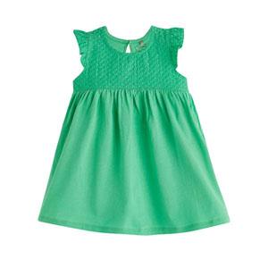 Kız Bebek Kısa Kol Elbise Green Tea (0-2 yaş)