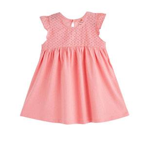 Kız Bebek Kısa Kol Elbise Pink Tint (0-2 yaş)