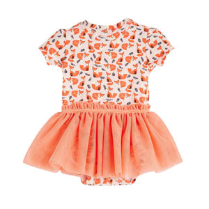 Kız Bebek Kısa Kol Badi Elbise Pink Tint (0-2 yaş)