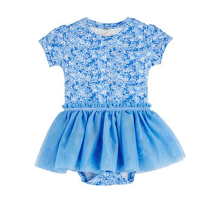 Kız Bebek Kısa Kol Badi Elbise Violet (0-2 yaş)