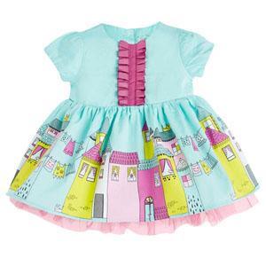 Kız Bebek Kısa Kol Elbise Mavi (0-2 yaş)