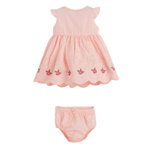 Kız Bebek Kısa Kol Elbise Pembe (0-2 yaş)