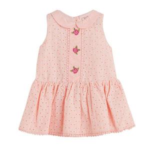 Kız Bebek Kolsuz Elbise Pembe (0-2 yaş)