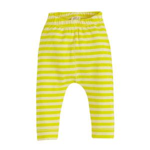 Pop Girls Çizgili Tayt Uçuk Sarı (0-2 yaş)
