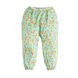 Pop Girls Belden Bağlamalı Çiçekli Pantolon Baskılı (0-2 yaş)