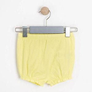 Kız Bebek Külot Şort Limon Sarısı (56-92 cm)