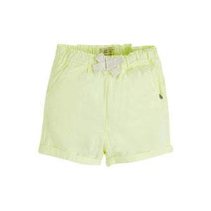 Pop Girls Mini Şort Neon Sarı (0-2 yaş)