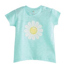 Pop Girls Papatya Kısa Kol Tişört Çini (0-2 yaş)