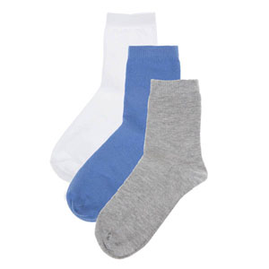 Erkek Çocuk Üçlü Okul Çorap Set Antrasit (27-38 numara)