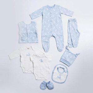 Erkek Bebek Sekizli Hastane Çıkışı Mavi 56 cm