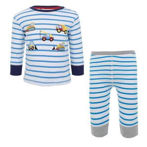 Erkek Bebek Pijama Takımı Mavi (0-3 yaş)