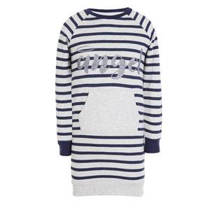 Kız Çocuk Uzun Kol Elbise Marin (3-12 yaş)