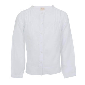 Kız Çocuk Uzun Kol Gömlek Beyaz (3-12 yaş)