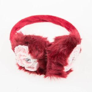Kız Çocuk Kulaklık Bordo 4-12 YAS