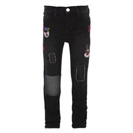 Kız Çocuk Kot Pantolon Siyah (1-7 yaş)