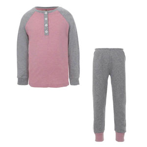 Kız Çocuk Pijama Takımı Gri Melanj (3-12 yaş)