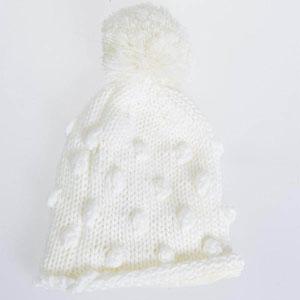 Kız Çocuk Bere Beyaz (0-2 yaş)