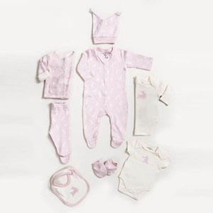 Kız Bebek Sekizli Hastane Çıkışı Pembe (0-3 ay)