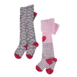 İkili Külotlu Kız Çocuk Çorap Pembe (17-22 numara)