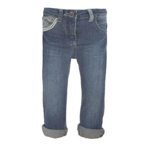 Kız Bebek Kot Pantolon Lacivert (0-3 yaş)