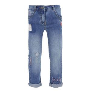 Kız Bebek Kot Pantolon Mavi (0-3 yaş)
