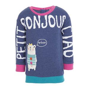 Kız Bebek Sweatshirt Lacivert Melanj (56-92 cm)