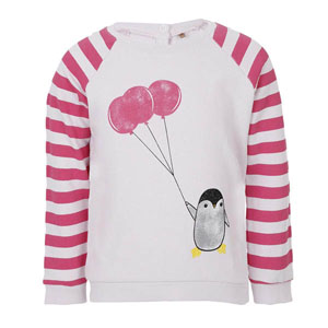 Kız Bebek Sweatshirt Mat Pembe (56-92 cm)