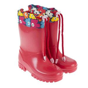Kız Çocuk Yağmur Botu Kırmızı (26-35 numara)