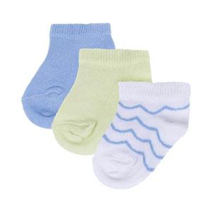 Erkek Çocuk Üçlü Çorap Set Beyaz (23-34 numara)