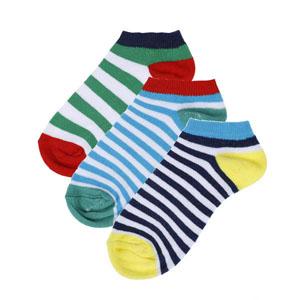 Erkek Çocuk Üçlü Çorap Set Lacivert (19-34 numara)