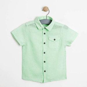 Erkek Çocuk Kısa Kol Gömlek Açık Yeşil (3-7 yaş)