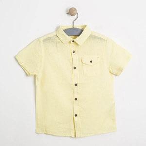 Erkek Çocuk Kısa Kol Gömlek Keskin Sarı (3-7 yaş)