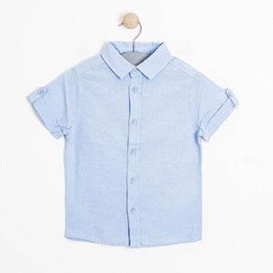 Erkek Çocuk Kısa Kol Gömlek Mavi (3-12 yaş)