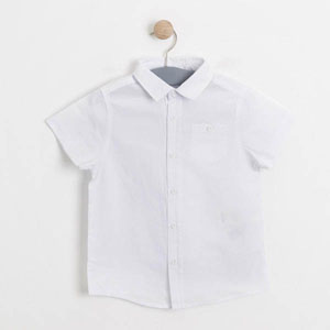 Erkek Çocuk Kısa Kol Gömlek Beyaz (3-12 yaş)