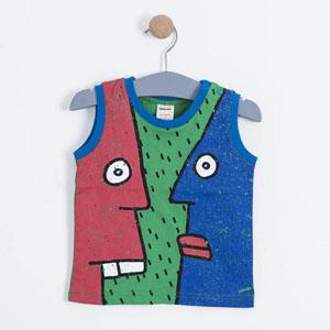 Erkek Çocuk Kolsuz Tişört Yeşil (1-7 yaş)