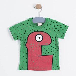 Erkek Çocuk Kısa Kol Tişört Yeşil (1-7 yaş)