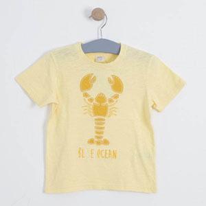 Erkek Çocuk Kısa Kol Tişört Açık Sarı (3-7 yaş)