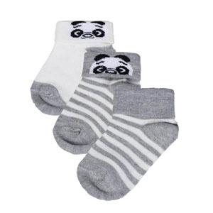 Erkek Bebek Üçlü Çorap Set Beyaz (14-22 numara)