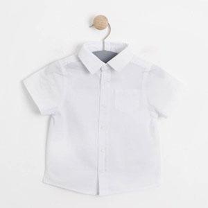 Erkek Bebek Kısa Kol Gömlek Beyaz (0-2 yaş)