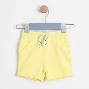 Erkek Bebek Şort Limon Sarısı (0-2 yaş)