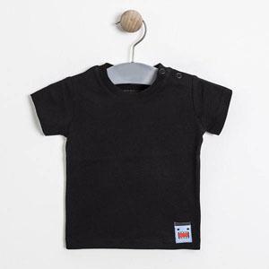 Erkek Bebek Kısa Kol Tişört Siyah (0-2 yaş)