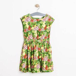 Kız Çocuk Kolsuz Elbise Yeşil (1-7 yaş)