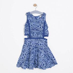 Kız Çocuk Kolsuz Elbise Mavi (8-12 yaş)