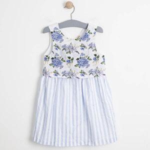 Kız Çocuk Kolsuz Elbise Beyaz (3-12 yaş)