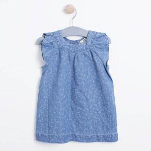 Kız Çocuk Kolsuz Kot Elbise Açık Mavi (74 cm-7 yaş)
